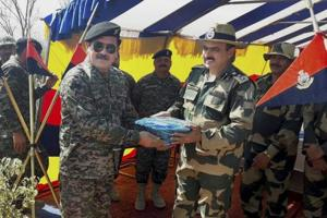 India raises unprovoked firing, hunting near border at flag meeting...