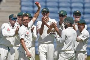 Australia spinner Steve O'Keefe changes ends, turns India's batting...