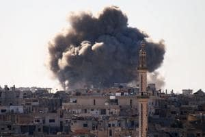 Iraqi air strikes target Islamic State hideouts in Syria for the first...