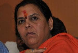 Uma Bharti asserts right to enter sanctum of temple as a 'Sadhvi'
