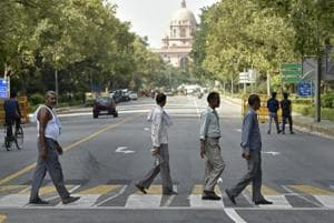 Optical illusion: 3D crossings around India Gate will keep speeding...