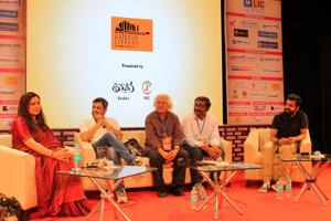 From left: Anjali Menon, Subodh Bhave, Adoor Gopalakrishnan, Vasanthabalan and Bejoy Nambiar in a session at the Gateway LitFest in Mumbai