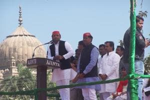 Akhilesh's staff says that he has done 150 rallies since January 28 and will easily cross 200 before campaigning for the remaining three phases ends.