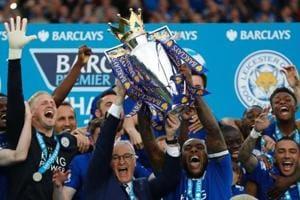 Claudio Ranieri (C) guided Leicester City FC to their first Premier League title last season.