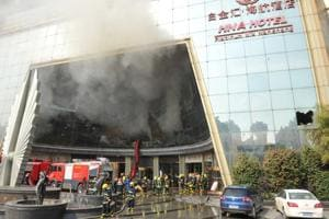 China: Fire at luxury hotel in Nanchang, many feared trapped