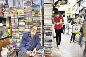 A Class 10 pass, Pramod Verma (above), considers himself an authority on textbooks. To be a good textbook seller, he says, one needs to understand how courses change.