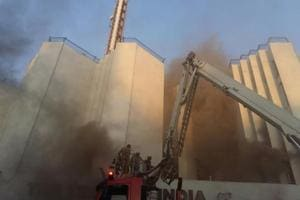 Fire breaks out at Times of India building in New Delhi