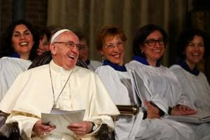 Pope Francis becomes first pontiff to visit Anglican church in Rome