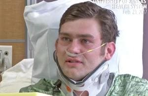 Kansas shooting hero Ian Grillot says was happy to risk his life to...