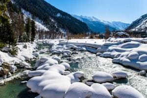 A picturesque winter in the Kashmir Valley