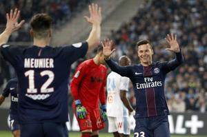 PSG show Marseille their place with 5-1 rout in French League