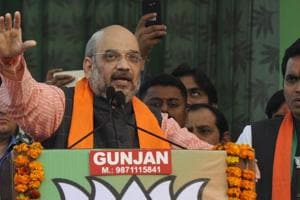 UP polls: Amit Shah slams Mayawati for BSP posters with Mukhtar's...
