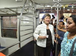 World Bank CEO travels in Mumbai local train, suggests better security...