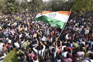 Ramjas protests highlights: Students march for 'azaadi' from ABVP; issue to be raised in Parliament