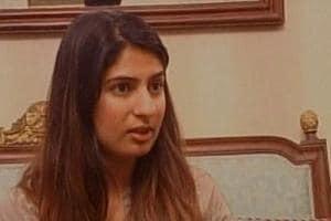 Delhi University student Gurmehar Kaur, whose social media campaign against the ABVP went viral.
