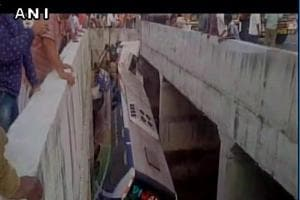 Eight passengers killed, 40 injured as bus falls into canal in Andhra