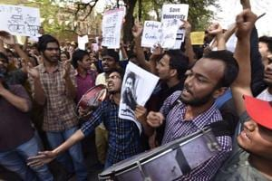 In pics: Delhi University becomes protest central over Ramjas College...
