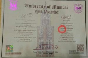 Student's name changed from Kite to Patang and Mumbai University...