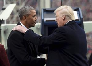 Trump accuses Obama of orchestrating protest against him