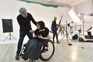 In pics: Ukraine's first wheelchair model breaks taboos