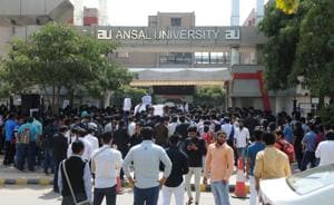 University students protest against lack of facilities, high fee