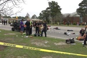 Car plows into Alabama Mardi Gras parade, injuring 12 students