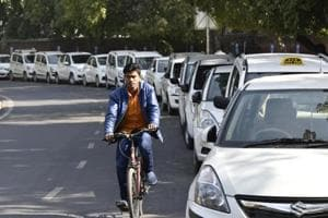 Bengaluru: Agitation against Ola, Uber enters 7th day; cabbies on...