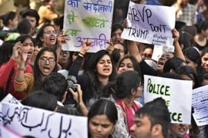 Ramjas row: Politicians join students, teachers at campus march against ABVP