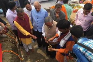 Bhatkar lays foundation for Nalanda University Phase-1 at Rajgir