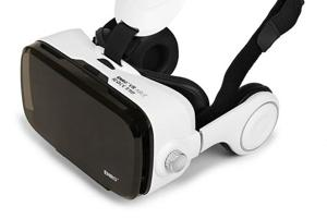Virtually there: The ENRG VR Able Studio headset is a portable theatre of sorts