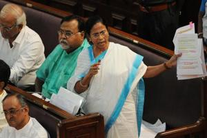 Chief Minister Mamata Banerjee presenting the West Bengal Clinical establishments (Registration regulation and transparency bill at Assembly in Kolkata.
