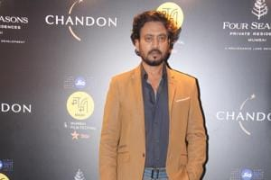 Irrfan Khan was mobbed his fans once he arrived in the city of Gangtok.