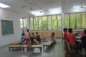Mirambika students were shifted to Aurobindo Ashram premises in April 2015.