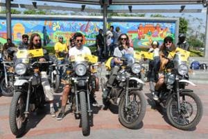 Gurgaon pit stop: Four Australian bikers to travel 7,000km across India for child rights