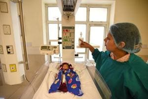 The Neonatal intensive care unit became operational last week at the Super Specialty Child Hospital and Post Graduate Institute in Sector 30 Noida.