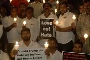 A group of Bengaluru residents staged a silent protest against the...