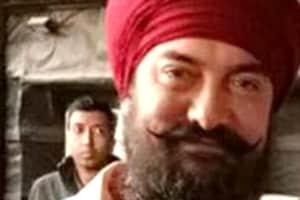 Aamir Khan dons a bearded look.