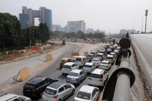 Traffic eases at Signature Chowk on Delhi-Gurgaon expressway