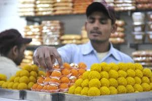 Owners of some sweetmeat shops in the city have their hands full as they are receiving orders in bulk for 'motichoor laddoos' and other sweets from leaders of different political parties.