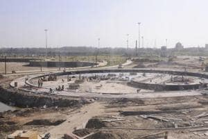The under- construction fountain is said to cost around Rs 45 crore.
