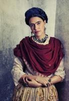 A photograph of Frida Kahlo (Neha Dhupia), archival pigment print, 2011, from the series Frida Kahlo.