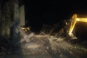 1 dead, 15 injured as under-construction  police training centre collapses in MP