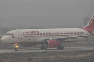 An Air India plane at the Chandigarh airport, January 16, 2017.