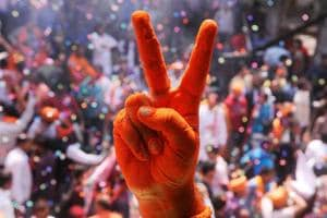 In a party mood: BJP, Congress celebrate UP, Punjab victories