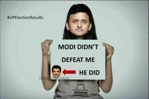 Twitter reaction on historical win of BJP in UP