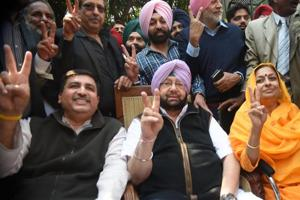 Punjab election results 2017: Congress crosses majority mark, AAP in second place