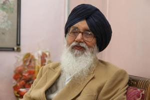 Parkash Singh Badal during an interview.