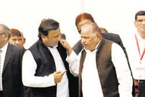 Mulayam defends Akhilesh, says no one person responsible for SP's UP election defeat