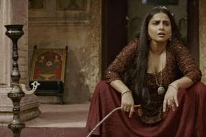 Begum Jaan aka Hookah-smoking Vidya owns it as the bold owner of a brothel in the period drama
