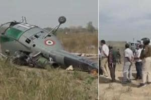 A Chetak helicopter of Indian Air Force (IAF) on Wednesday crashed due...